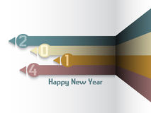 Fundo do ano novo feliz Foto de Stock Royalty Free