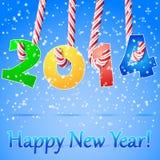 Fundo do ano 2014 novo feliz. ilustração royalty free