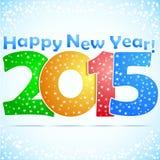 Fundo 2015 do ano novo feliz ilustração stock
