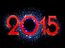 Fundo do ano 2015 novo feliz Imagens de Stock