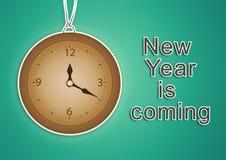 Fundo 2017 do ano novo feliz ilustração do vetor