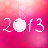 Fundo do ano 2013 novo feliz. + EPS8 Fotos de Stock Royalty Free