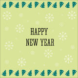 Fundo 2017 do ano novo feliz Molde do calendário Colorido, caráter tipo de papel tirado mão no fundo da celebração ano novo feliz Fotografia de Stock Royalty Free