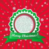 Fundo do applique do Natal. Ilustração do vetor com quadro FO Fotografia de Stock Royalty Free