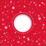 Fundo do applique do Natal. Ilustração do vetor para seu desi Fotos de Stock Royalty Free