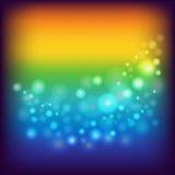 Fundo do arco-íris com círculos Fotografia de Stock
