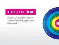 Fundo do arco-íris com texto Ilustração Stock