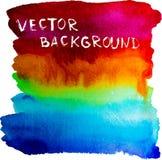 Fundo do arco-íris da aquarela do vetor Fotografia de Stock