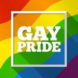 Fundo do arco-íris do orgulho alegre Ilustração do vetor em cores da bandeira de LGBT Molde colorido moderno para Pride Month, pa Fotos de Stock