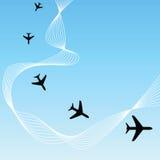 Fundo do avião Foto de Stock Royalty Free