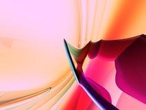 fundo do azul da cor-de-rosa do pêssego 3D Imagem de Stock
