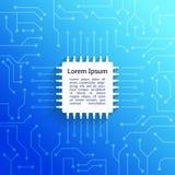 Fundo do azul da placa de circuito ilustração royalty free