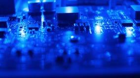 Fundo do azul da tecnologia video estoque