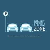 Fundo do azul da zona de estacionamento Ilustração Stock