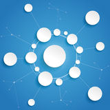 Fundo do azul de Infographic das redes do ciclo dos círculos Foto de Stock Royalty Free