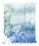 Fundo do azul de transferência do Polaroid Imagem de Stock