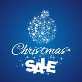 Fundo do azul do disconto da venda da bola do Natal ilustração do vetor