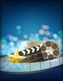 Fundo do azul do cinema Imagem de Stock Royalty Free