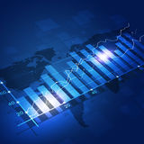 Fundo do azul do diagrama da finança Imagens de Stock Royalty Free