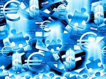 Fundo do azul do dinheiro Ilustração Stock