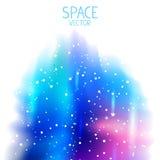 Fundo do azul do espaço ilustração royalty free