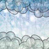 Fundo do azul do inverno Imagem de Stock