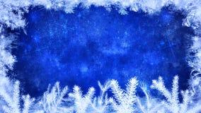 Fundo do azul do inverno e do Feliz Natal ilustração do vetor