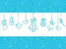 Fundo do azul do Natal Ilustração do Vetor