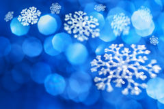 Fundo do azul do Natal Foto de Stock Royalty Free