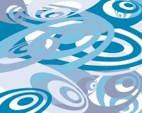 Fundo do azul e da cerceta swirly Foto de Stock Royalty Free