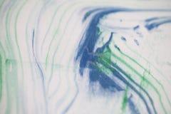 Fundo do azul e das linhas verdes Fotografia de Stock