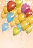 Fundo do balão do aniversário ilustração royalty free