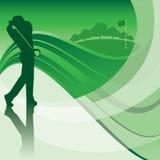 Fundo do balanço do jogador de golfe Imagens de Stock Royalty Free
