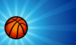 Fundo do basquetebol Fotos de Stock Royalty Free