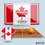 Fundo do basquetebol da ilustração do vetor Fotografia de Stock