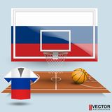 Fundo do basquetebol da ilustração do vetor Imagens de Stock