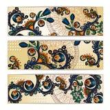 Fundo do batik de Paisley Cartões tribais étnicos Imagens de Stock Royalty Free