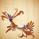 Fundo do Batik Imagens de Stock Royalty Free