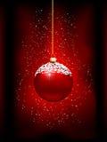 Fundo do bauble do Natal Fotos de Stock