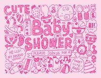 Fundo do bebê da garatuja Foto de Stock