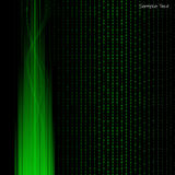 Fundo do binário da tecnologia. Ilustração do vetor. Fotografia de Stock Royalty Free
