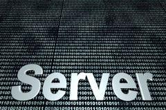 Fundo do binário do servidor Imagem de Stock