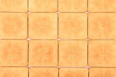Fundo do biscoito de soda do saltine. Fotos de Stock Royalty Free