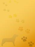 Fundo do bloco de notas dos artigos de papelaria das patas do cão de filhote de cachorro Imagens de Stock Royalty Free