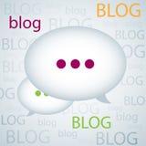Fundo do blogue Imagens de Stock