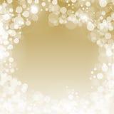 Fundo do bokeh do ouro Foto de Stock Royalty Free
