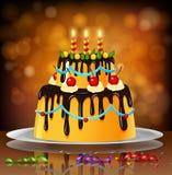 Fundo do bolo de aniversário Imagens de Stock Royalty Free
