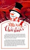 Fundo do boneco de neve do Natal ilustração do vetor