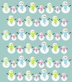 Fundo do boneco de neve dos desenhos animados Fotos de Stock Royalty Free