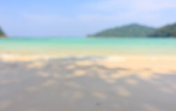 Fundo do borrão da praia imagem de stock